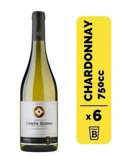 6 Vino Santa Digna Chardonnay 750cc