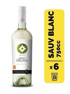 6 Vino Santa Digna Sauvignon Blanc 750cc
