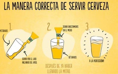 como servir cerveza