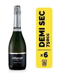 6 Espumante Viñamar Demi Sec 750cc
