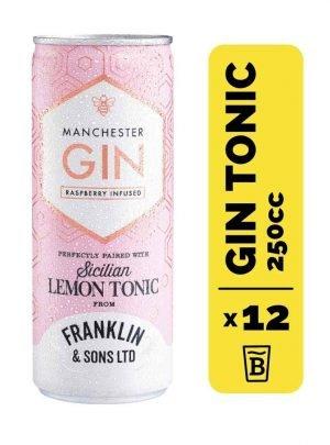 12 Gin Manchester Rasp & Franklin&Sons Tonic Lata 250cc