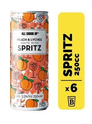 6 All Shook Up Peach & Lychee Spritz Lata 250cc