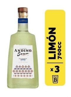 3 Coctel Sabor Andino Sour 700cc