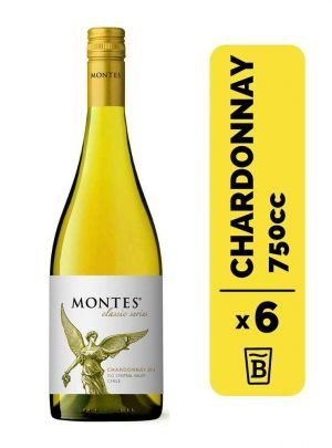 6 Vino Montes Reserva Chardonnay 750cc