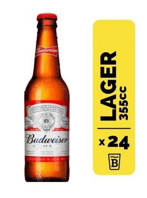 24 Cervezas Budweiser 355cc