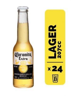 24 Cervezas Coronita Extra 207cc
