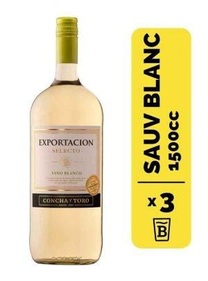 3 Vino Exportacion Selección Sauvignon Blanc 1.5 Litros