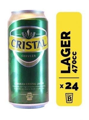 24 Cervezas Cristal 470cc