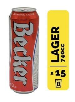 15 Cervezas Becker 740cc