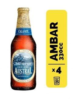 4 Cervezas Austral Calafate 330cc