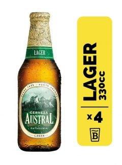4 Cervezas Austral Lager 330cc