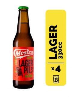 4 Cervezas Mestra Pilsen Lager 330cc