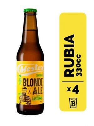 4 Cervezas Mestra Blonde 330cc