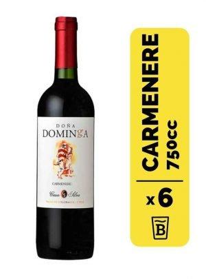 6 Vino Doña Dominga Carmenere 750cc