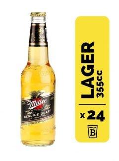24 Cervezas Miller 355cc