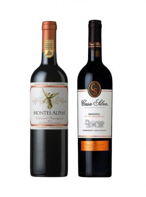 Pack Vino Montes Alpha Cabernet Sauvignon + Casa Silva Cuvee Rsva Cabernet Sauvignon 750cc