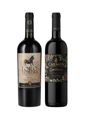 Pack Vino Toro de Piedra Carmenere + Carmen Gran Rsva Frida Kahlo Carmenere 750cc