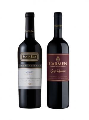 Pack Vino Santa Ema Gran Rsva Merlot + Carmen Gran Rsva Cabernet Sauvignon 750cc